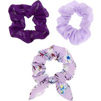 Claire's Floral Bow Hair Scrunchies - Lilac, 3 Pack - Lilac Gifts