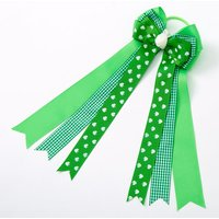 Claire's St. Patrick's Day Bow Ribbon Hair Tie - Green - St Patricks Day Gifts