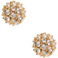 Claire's Gold Crystal Fireball Stud Earrings - Crystal Gifts
