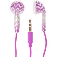 Claire's Purple Chevron Earphones - Earphones Gifts