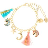 Claire's Iridescent Unicorn Tassel Charm Bracelet - Charm Bracelet Gifts