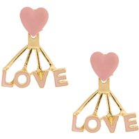 Claire's Pink & Gold Love Ear Jackets - Jackets Gifts