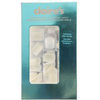 Claire's 100 Pack Square White False Nails With Adhesive Tabs - Nails Gifts