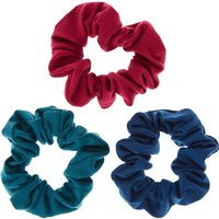 Claire's Small Retro Blue Hair Scrunchies - 3 Pack - School Gifts