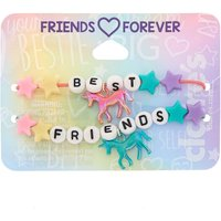 Claire's Cosmic Unicorn Beaded Stretch Friendship Bracelets - 2 Pack - Friendship Gifts