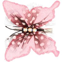 Claire's Dotted Glitter Butterfly Hair Clip - Pink - Hair Gifts