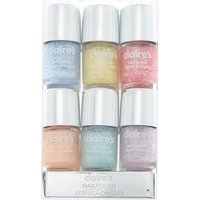 Claire's Glitter Mini Nail Polish Set - 6 Pack - Nail Gifts