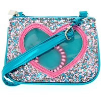 Claire's Claire's Club Glitter Heart Crossbody Bag + Bonus Bracelet - Bag Gifts