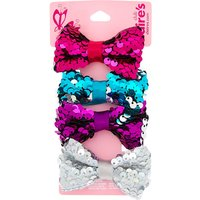 Claire's Club Reversible Sequins Bow Hair Ties - 4 Pack - Ties Gifts