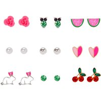 Claire's Beautiful & Bright Stud Earrings - 9 Pack - Earrings Gifts