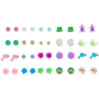 Claire's 20 Pack Bright Sea Life Stud Earrings - Sea Gifts