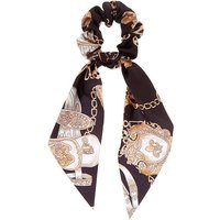 Claire's Chain Satin Scarf Hair Scrunchie - Black - Scarf Gifts