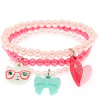 Claire's Club Girly Stretch Bracelets - 3 Pack - Girly Gifts