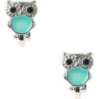Claire's Cute Silver & Turquoise Owl Clip On Earrings - Cute Gifts