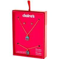 Claire's December Birthstone Jewelry Gift Set - Blue Zircon, 3 Pack - Birthstone Gifts