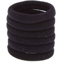 Claire's Solid Rolled Hair Ties - Black, 6 Pack - Ties Gifts