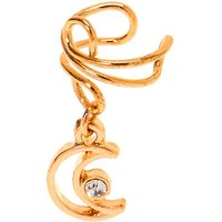 Claire's Gold Moon Charm Ear Cuff - Charm Gifts
