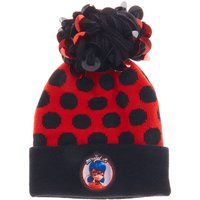 Claire's Miraculous™ Polka Dot Sequin Pompom Beanie Hat - Red - Polka Dot Gifts