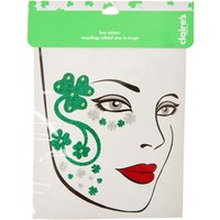 Claire's St. Patrick's Day Shamrock Face Stickers - St Patricks Day Gifts
