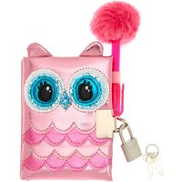 Claire's Club Owl Lock Diary - Pink - Notebook Gifts