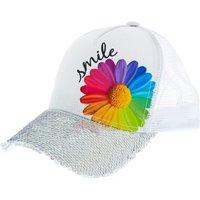 Claire's Daisy Smile Baseball Cap - White - Baseball Gifts