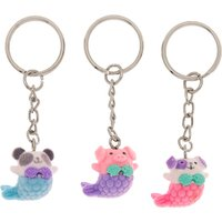 Claire's Best Friends Mermaid Animal Keychains - 3 Pack - Keyrings Gifts