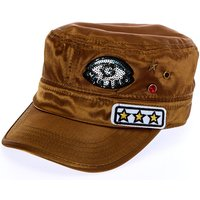 Claire's Green Military Cap With Patches - Military Gifts