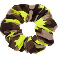 Claire's Camo Print Hair Scrunchie - Neon Green - Camo Gifts