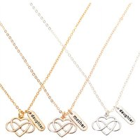 Claire's Mother Daughter Infinity Heart Pendant Necklaces - 3 Pack - Daughter Gifts