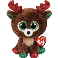 Claire's Ty Beanie Boo Small Fudge The Reindeer Soft Toy - Fudge Gifts