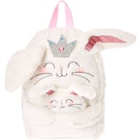 Claire's Club Claire The Bunny Plush Backpack - White - Backpack Gifts