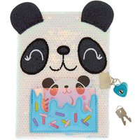 Claire's Sweetimals Pandonut Sequin Lock Notebook - Notebook Gifts