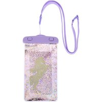 Claire's Unicorn Shaky Glitter Waterproof Phone Pouch - Lilac - Lilac Gifts