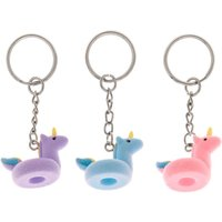 Claire's Unicorn Pool Float Keychains - 3 Pack - Keyrings Gifts