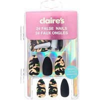 Claire's Camo Matte Stiletto Faux Nail Set - 24 Pack - Camo Gifts