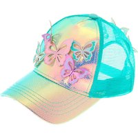 Claire's Holographic Butterfly Baseball Cap - Mint - Baseball Gifts