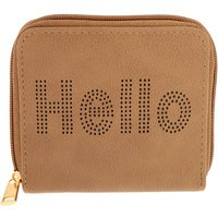 Claire's Brown Hello Compact Wallet - Wallet Gifts