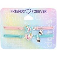 Claire's Pastel Unicorn Magic Stretch Friendship Bracelets - 2 Pack - Friendship Gifts