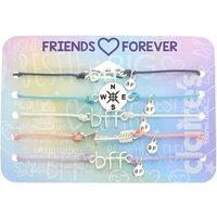 Claire's Pastel Wanderlust Adjustable Friendship Bracelets - 5 Pack - Friendship Gifts