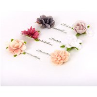 Claire's Elegant Neutral Flower Hair Pins - 6 Pack - Elegant Gifts