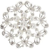 Claire's Silver Pearl Butterfly Brooch - Pearl Gifts