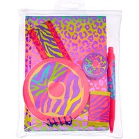 Claire's Neon Animal Donut Print Stationary Set - Pink - Stationary Gifts