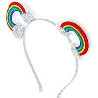 Claire's Rainbow Bear Ears Headband Bracelet - Bear Gifts
