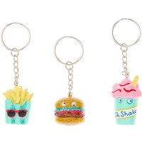Claire's 3 Pack Bff Fast Food Keyrings - Keyrings Gifts