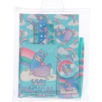 Claire's Lala The Llama Rainbow Stationery Set - Turquoise - Turquoise Gifts