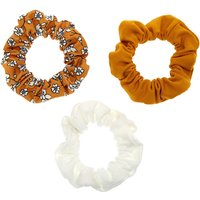 Claire's Club Floral Scrunchies - Mustard, 3 Pack - Floral Gifts