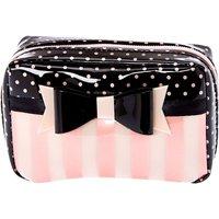 Claire's Small Paris Polka Dot & Striped Makeup Bag - Makeup Gifts