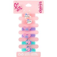 Claire's Club Critter Ribbed Hair Ties - Rainbow, 6 Pack - Ties Gifts