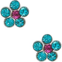 Claire's Sterling Silver Flower Stone Stud Earrings - Turquoise - Turquoise Gifts