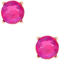 Claire's Gold 10MM Round Stone Stud Earrings - Fuchsia - Fuchsia Gifts